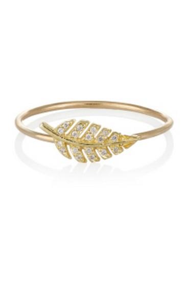 Jennifer Meyer Diamond & Gold Leaf