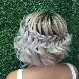 Short hair bride braid2