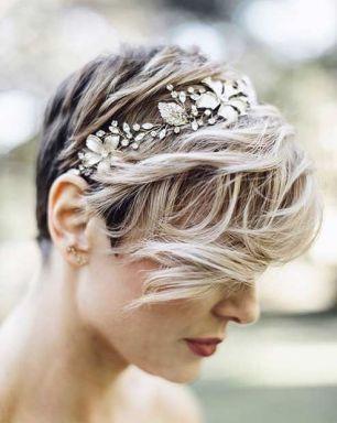 Short hair bride11