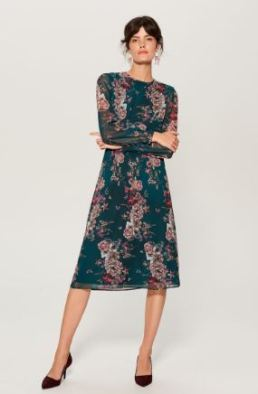 Fall Wedding Guest Outfit_Midi Dress1